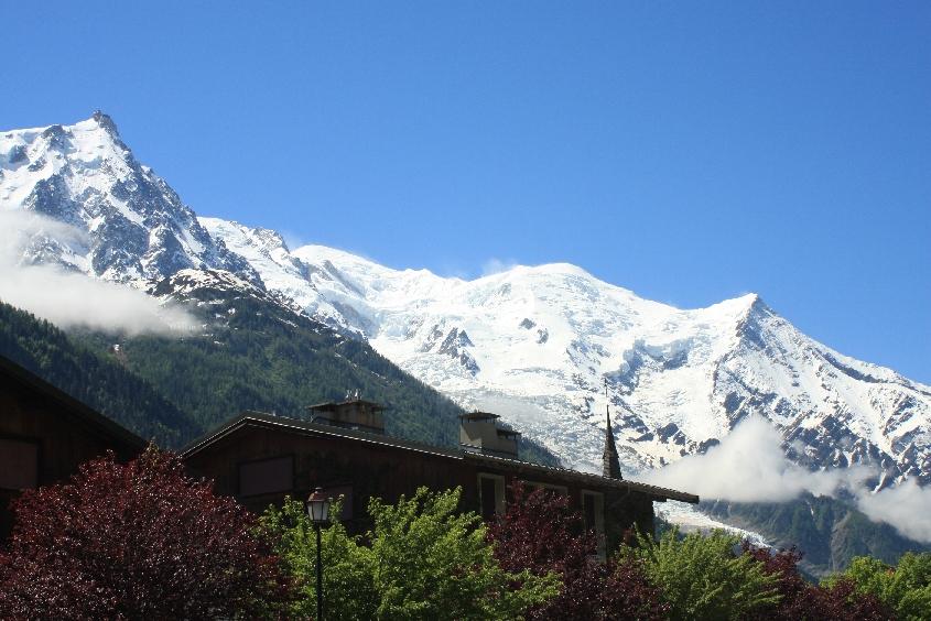 Ostatnie spojrzenia na Mont Blanc