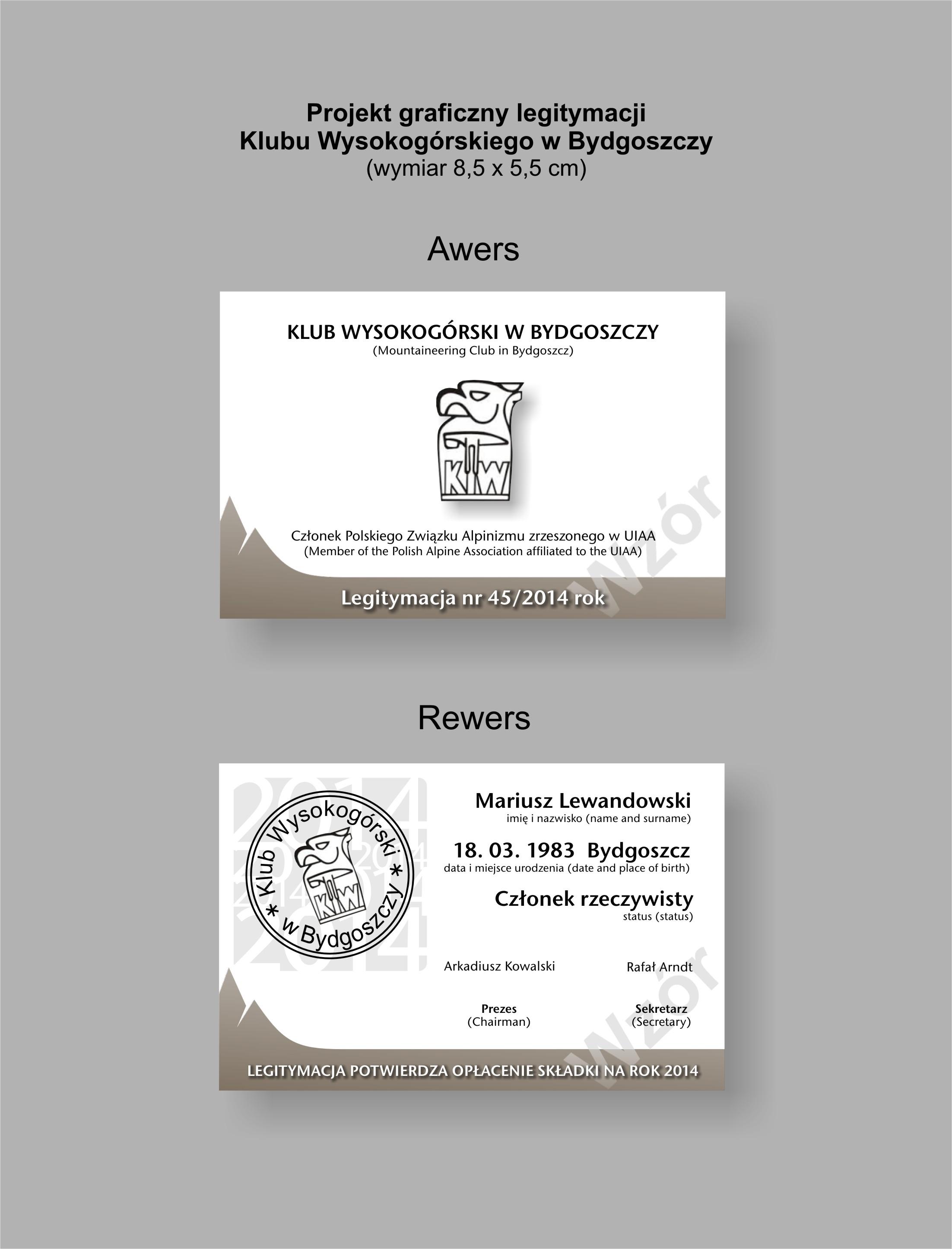 Legitymacja KW - projekt Wojtek Bonk