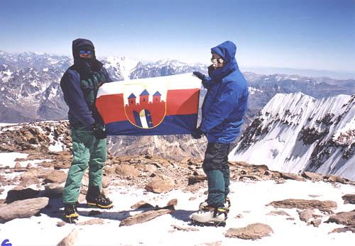 Na szczycie Aconcagua