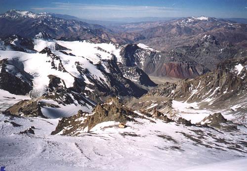 Aconcagua - widok ze szczytu