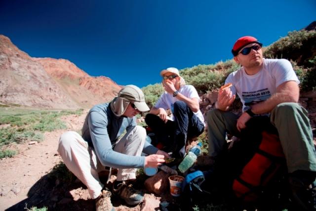 Odpoczynek w dolinie Vacas