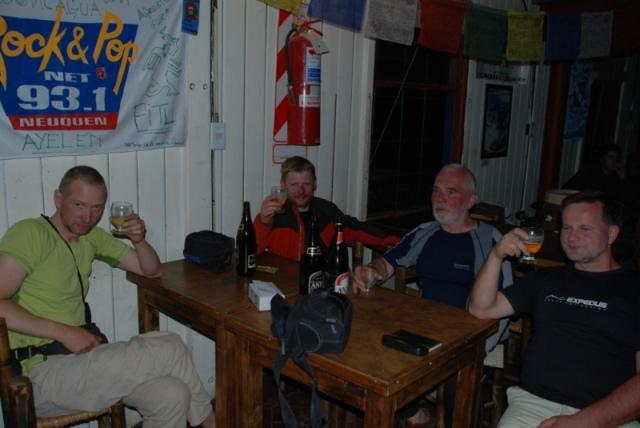 Zasłużone piwo z krajanami