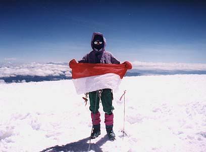 Na szczycie Chimborazo