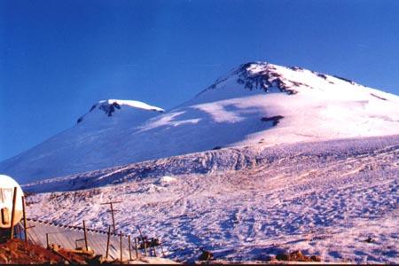 Elbrus - widok na szczyt