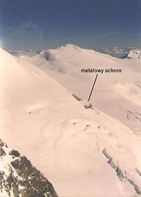 Widok z rynny na szczyt Johannis Berg 3453 m n.p.m.